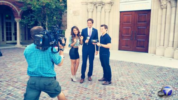 ABC7 Filming With Elex Michaelson Riddersen Wedding