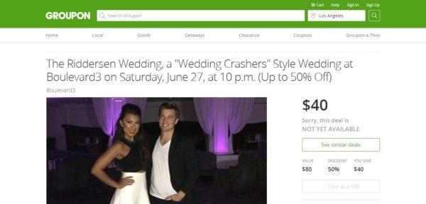 Riddersen Wedding Groupon